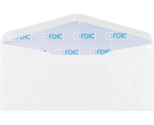 #10 Regular Envelopes (4 1/8 x 9 1/2) 24lb. White w/ FDIC Security Tint