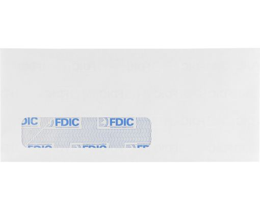 #10 Window Envelopes (4 1/8 x 9 1/2) 24lb. White w/ FDIC Security Tint