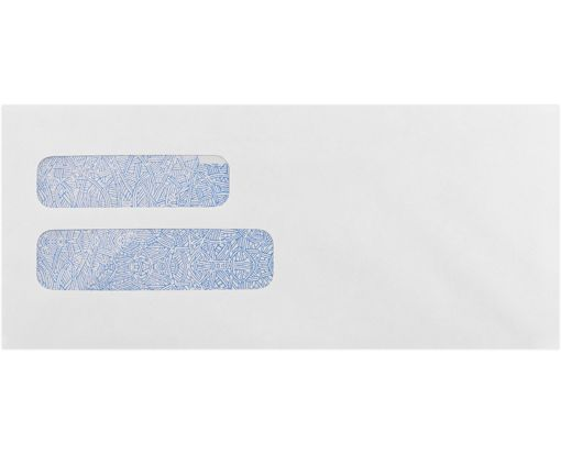 #10 Double Window Envelope (4 1/8 x 9 1/2) 24lb. White w/ Security Tint
