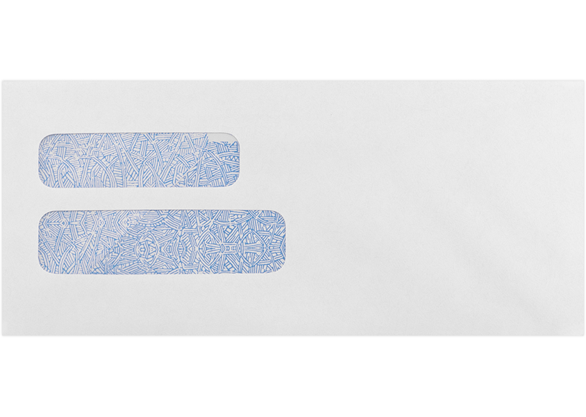 10 double window envelope 4 1 8 x 9 1 2 24lb 24lb for Double window envelope template