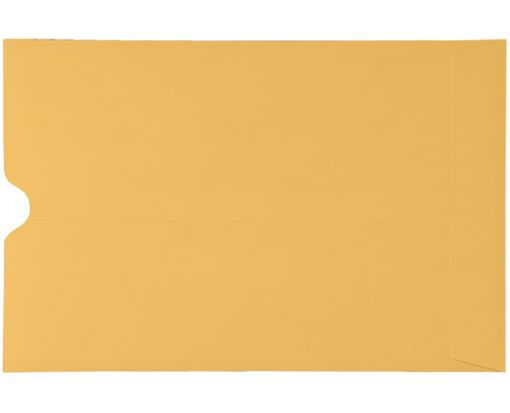 6 x 9 Thumbcut Open End Envelopes 28lb. Brown Kraft
