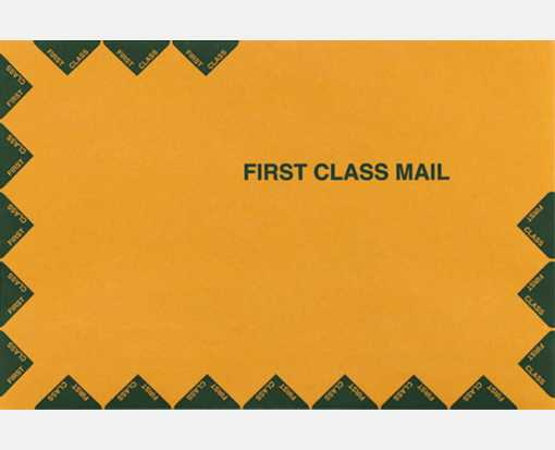 7 1/2 x 10 1/2 Open End Envelopes 28lb. Brown Kraft, First Class
