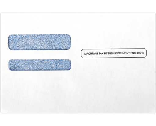 ACA Form Double Window Envelope (5 3/4 x 8 3/4) White w/Blue Tint