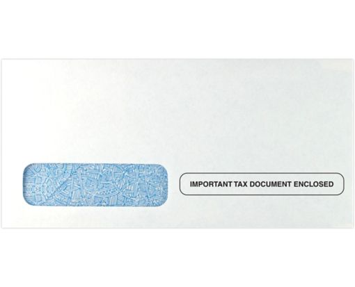 W-2 / 1099 Form Envelopes #3 (3 15/16 x 8 1/4) 24lb. White - Tax