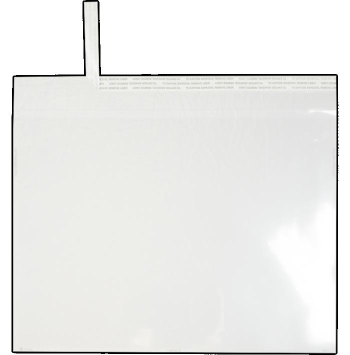 9 x 12 Kwik-Tak Poly Booklet Clear