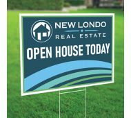 20 x 28 Full Color Plastic Yard Sign 2 Sided with 4mm White Corrugated Plastic Envelopes