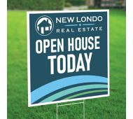 24 x 24 Full Color Plastic Yard Sign 2 Sided with 4mm White Corrugated Plastic Envelopes