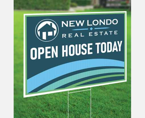 24 x 36 Full Color Plastic Yard Sign 2 Sided with 4mm White Corrugated Plastic White