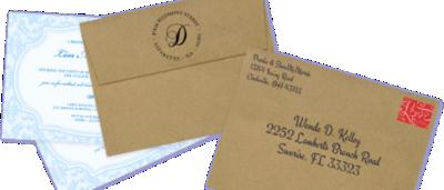 Recipient Addressing Digital Calligraphy Envelope Addressing