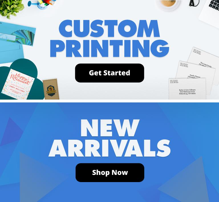 Custom Printing   New Arrivals