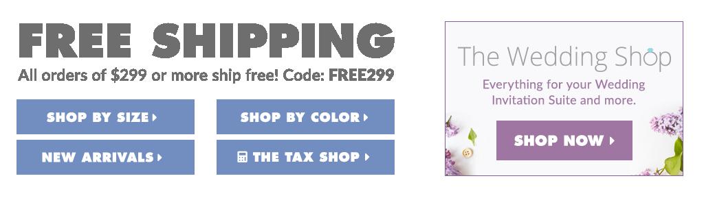 Envelopes.com Free Shipping/Wedding Shop Banner