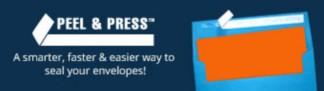 Peel & Press Envelopes